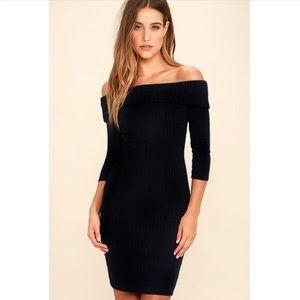 Lulu's Long-Sleeved Off the Shoulder Dress